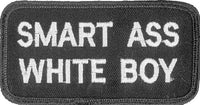 SMART ASS WHITE BOY PATCH - HATNPATCH