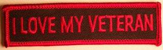 I LOVE MY VETERAN PATCH - HATNPATCH