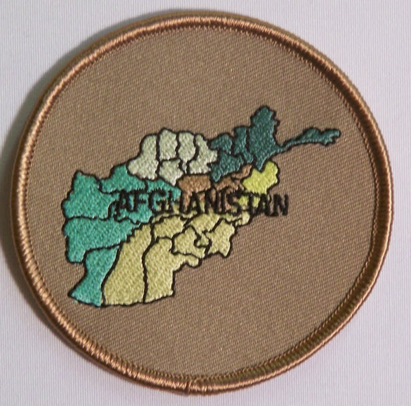 AFGHANISTAN MAP PATCH - HATNPATCH