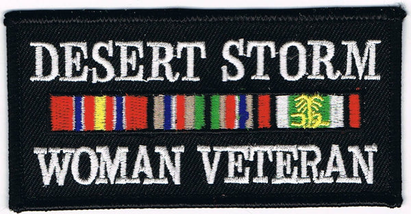 DESERT STORM WOMAN VETERAN PATCH - HATNPATCH