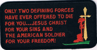 ONLY TWO DEFINING FORCES HAVE OFFERED TO DIE FOR YOU… PATCH - HATNPATCH
