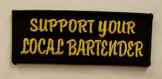 Support Your Local Bartender Patch