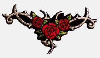 STUDDED ROSE PATCH