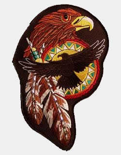 NATIVE STUDDED HAWK PATCH