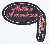 NATIVE AMERICAN W/ FEATHERS PATCH - HATNPATCH