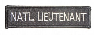 NATL. LIEUTENANT PATCH