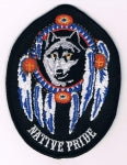 NATIVE PRIDE WOLF DREAMCATCHER PATCH