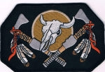 NATIVE SKULL & HATCHETS PATCH