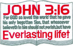 John 3:16 Everlasting Life Patch - Large - HATNPATCH