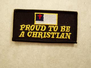 Proud To Be A Christian Patch - HATNPATCH