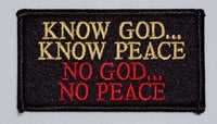 Know God Know Peace - No God No Peace Patch - HATNPATCH