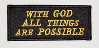 With God All Things Are Possible Patch