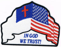 In God We Trust Patch USA and Christain Flags - HATNPATCH