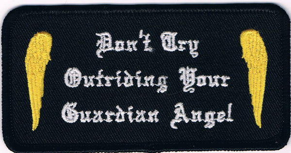 Don't Try Outriding Your Guardian Angel Patch With Wings - HATNPATCH