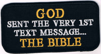 God Sent The Very First Text Message, The Bible Patch - HATNPATCH