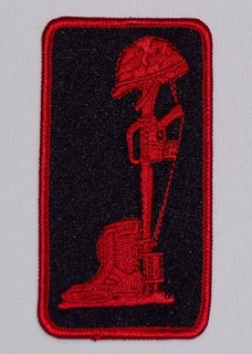 COMBAT MEMORIAL RED/BLACK PATCH