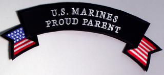 U.S. Marines Proud Parent Rocker PATCH