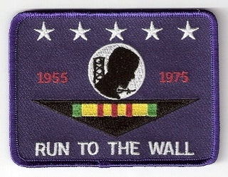 Run To The Wall POW/MIA Blue Patch