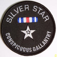 SILVER STAR ROUND PATCH