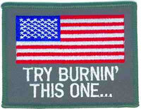 TRY BURNIN' THIS ONE... (Large) PATCH - HATNPATCH