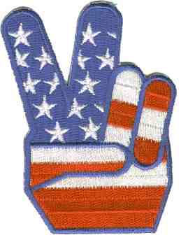 USA FLAG PEACE PATCH