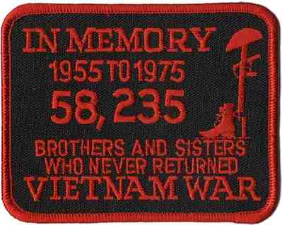 IN MEMORY - VIETNAM PATCH - HATNPATCH