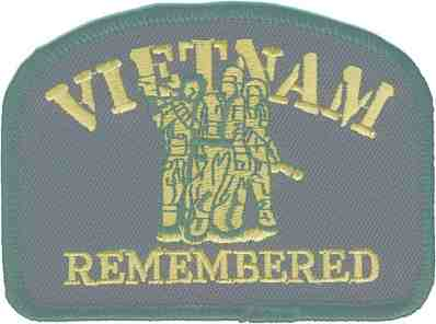 VIETNAM REMEMBERED PATCH