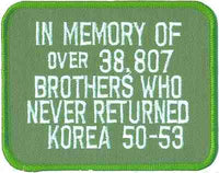 IN MEMORY OF BROTHERS - KOREA PATCH
