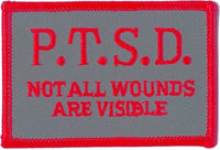 P.T.S.D. NOT ALL WOUNDS ARE VISIBLE PATCH