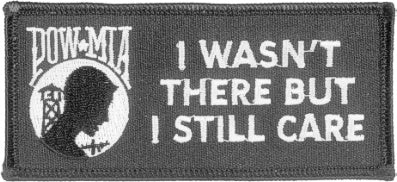 I WASN'T THERE - BUT CARE PATCH - HATNPATCH