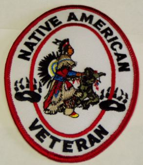 NATIVE AMERICAN VET PATCH