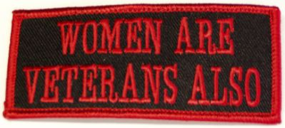 WOMEN ARE VETERANS ALSO PATCH - HATNPATCH