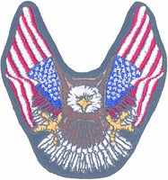 EAGLE w/ 2 FLAGS (Small) PATCH