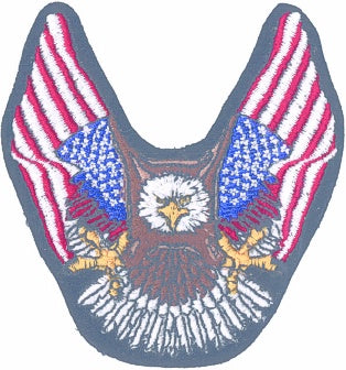 EAGLE w/ 2 FLAGS (Medium) PATCH - HATNPATCH