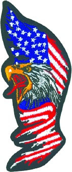 TALL EAGLE FLAG PATCH - HATNPATCH