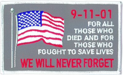 911 - WE WILL NEVER FORGET PATCH