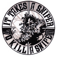 "IT TAKES A SNIPER TO KILL A SNIPER PATCH 5"" - HATNPATCH"