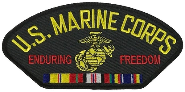 USMC ENDURING FREEDOM VETERAN W/ COMBAT ACTION RIBBON PATCH - HATNPATCH