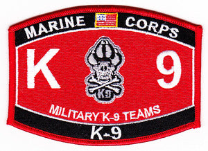 US Marine Corps K-9 Military K-9 Teams MOS Patch - HATNPATCH