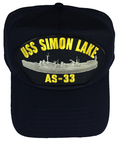 USS SIMON LAKE AS-33 HAT - Found per customer request! Ask Us! - HATNPATCH