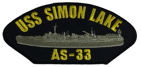 USS SIMON LAKE AS-33 PATCH - Found per customer request! Ask Us! - HATNPATCH
