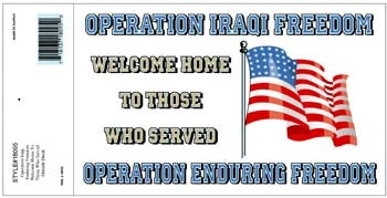 OIF OEF WELCOME HOME DECAL - HATNPATCH