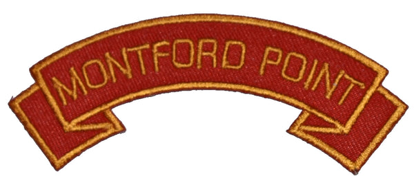 MONTFORD POINT MARINES SCROLL PATCH - Multi-colored --