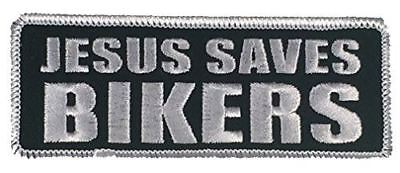 JESUS SAVES BIKERS PATCH CHRISTIAN RELIGIOUS MOTORCYCLE MC SCOOT