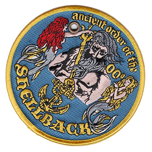 Ancient Order of the Shellback Christmas Ornament double sided Patch - Veteran Owned Business - HATNPATCH