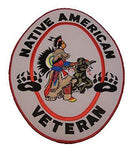 NATIVE AMERICAN VETERAN LARGE BACK PATCH INDIAN INDIGENOUS MILITARY SERVICE