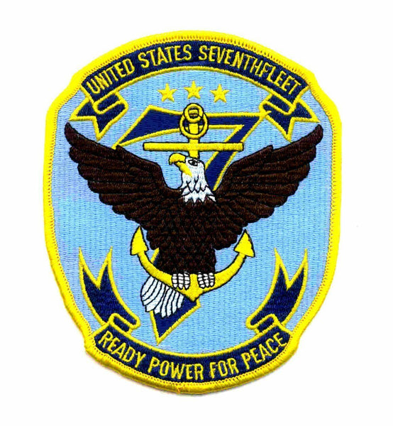 USN NAVY 7TH SEVENTH FLEET VIETNAM VETERAN READY POWER FOR PEACE PATCH VETERAN - HATNPATCH