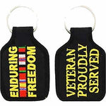 ENDURING FREEDOM VETERAN PROUDLY SERVED WITH CAMPAIGN RIBBONS KEY CHAIN OEF - HATNPATCH
