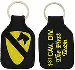 US ARMY 1ST CAVALRY DIVISION CAV DIV THE FIRST TEAM KEY CHAIN VETERAN