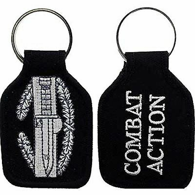 US ARMY COMBAT ACTION BADGE CAB KEY CHAIN VETERAN SOLDIER COMBAT SERVICE SUPPORT